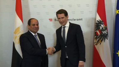 Egyptian president starts official visit in Austria