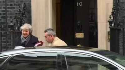 Theresa May heads to Parliament morning after bruising defeat