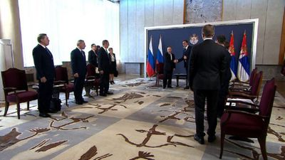 Putin holds talks with Serbia President Vucic in Belgrade