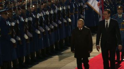 Serbia rolls out red carpet for Putin