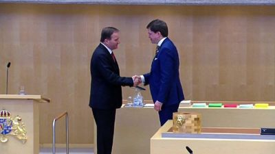 Swedish lawmakers elect PM Stefan Lofven to second term