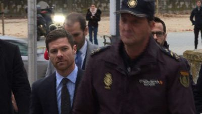 Xabi Alonso arrives at Madrid court on tax evasion charge