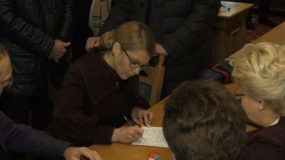 Tymoshenko submits candidacy for Ukrainian presidential election