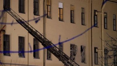 Building partially collapses at university in St Petersburg