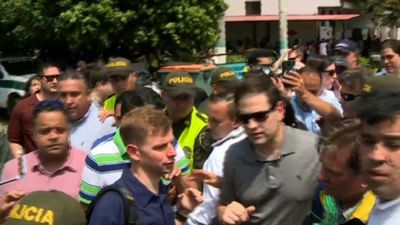 US senator Rubio visits Colombia border with Venezuela