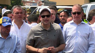 "Rubio says Venezuelan aid-blockade is ""international crime"""