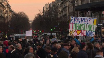 French protesters rally in Paris against anti-Semitism (2)
