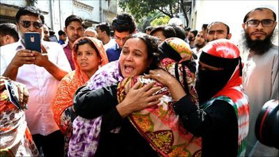 Grieving families gather at morgue after deadly Bangladesh fire