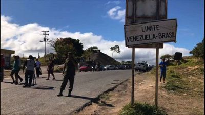 Security forces guard closed border between Brazil and Venezuela