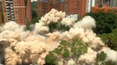 Colombia demolishes former Escobar fortress