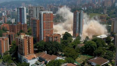 DRONE IMAGES: Colombia demolishes former Escobar fortress