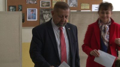 Slovakia's presidential candidate Stefan Harabin votes