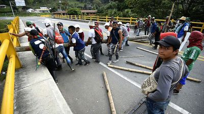 Indigenous protesters continue to block major Colombian highway