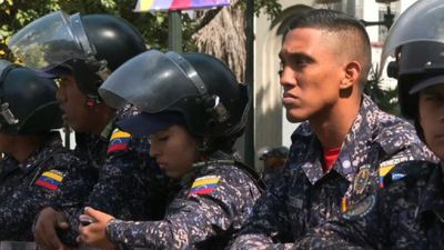 Heavy police presence in Caracas ahead of union protest