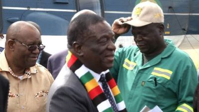 Zimbabwe's Mnangagwa lands in cyclone-hit area to meet victims