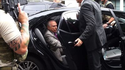 """Brazil's Temer stopped, detained on highway in """"Car Wash"""" probe"""