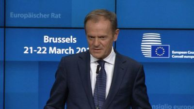 Tusk: 'Still a lot of space in hell' for Brexiteers without plan