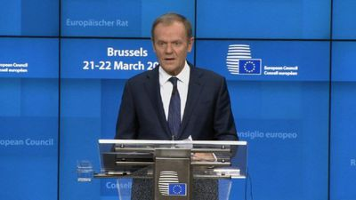 EU's Tusk: Anything is possible before April 12 Brexit day