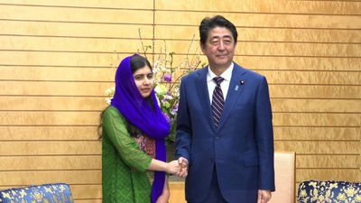 Malala asks Abe to spearhead women's education agenda at G20