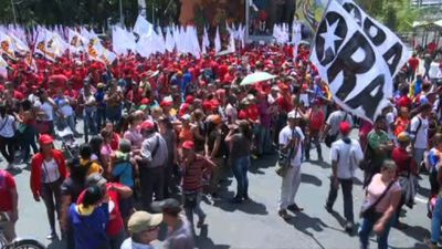People gather in Caracas for pro-Maduro rally