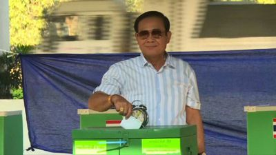 Thai junta leader votes in general election