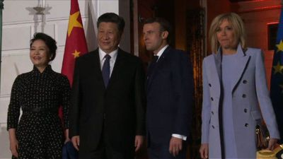 Macron receives Chinese president at Villa Kerylos
