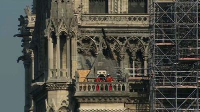 Experts, firemen continue consolidation work on Notre-Dame