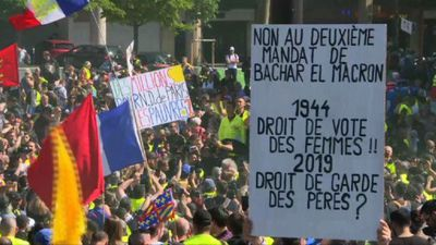 """""""Yellow vests"""" stage 23rd weekend of Paris protests"""