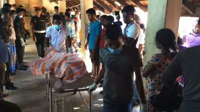 People wait at hospital after Batticaloa blast