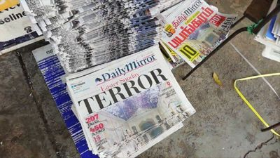 'Terror': Sri Lankan newspapers front pages after Easter blasts