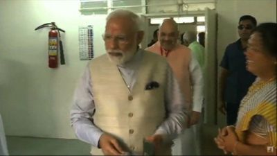 Indian PM Modi votes in third round of election