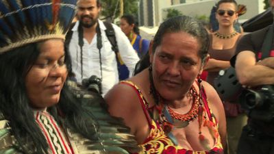 Indigenous protest in Brazil over land rights