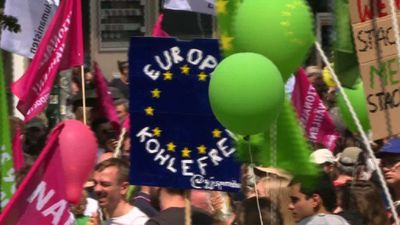 Pro-Europe protest in Berlin one week ahead of EU elections