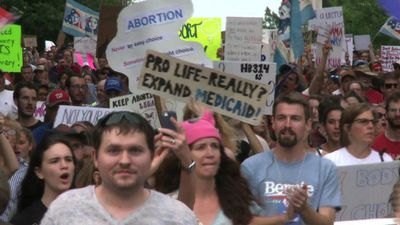 Protest held against strict Alabama abortion law