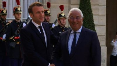 French President Macron welcomes Portuguese PM Costa