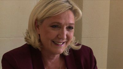 Marine Le Pen calls on French to 'stop Macron' in EU polls