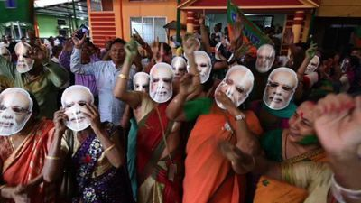 India: Modi supporters celebrate in Assam