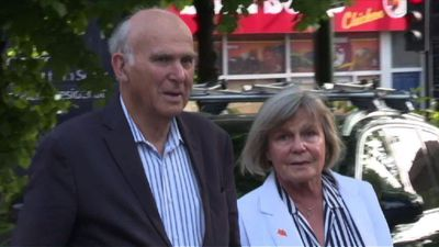 Lib Dem leader Vince Cable heads to polls for EU vote
