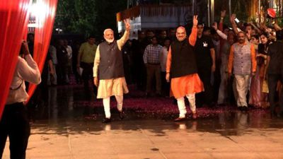 India's Modi celebrates re-election