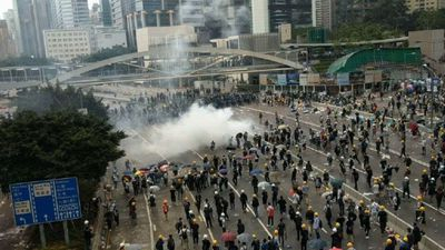 Clashes escalate between police and protesters in Hong Kong