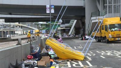 The morning after Hong Kong's violent protest