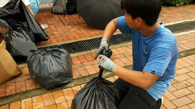 Hong Kong: From dodging tear gas to throwing out the trash