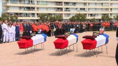 French president pays tribute to lifeboat crew killed at sea