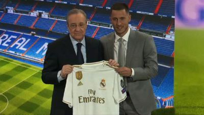 Football: Official presentation of Real Madrid's Eden Hazard