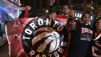 Raptors fans celebrate historic NBA title