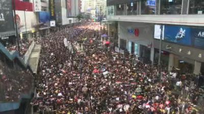 Huge rally in Hong Kong once again
