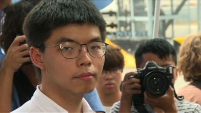 Hong Kong protest leader Joshua Wong is released from prison