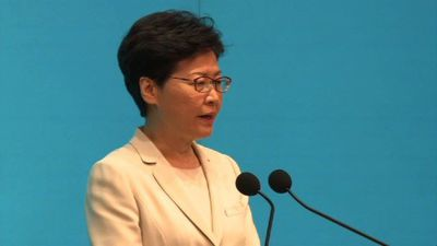 Hong Kong leader offers 'most sincere apology'