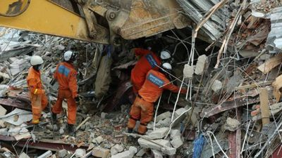 Rescuers at work as Cambodia building collapse toll rises to 17