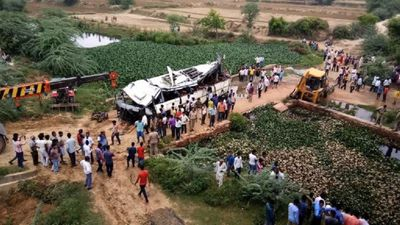 29 die as bus falls off India's 'highway to hell'